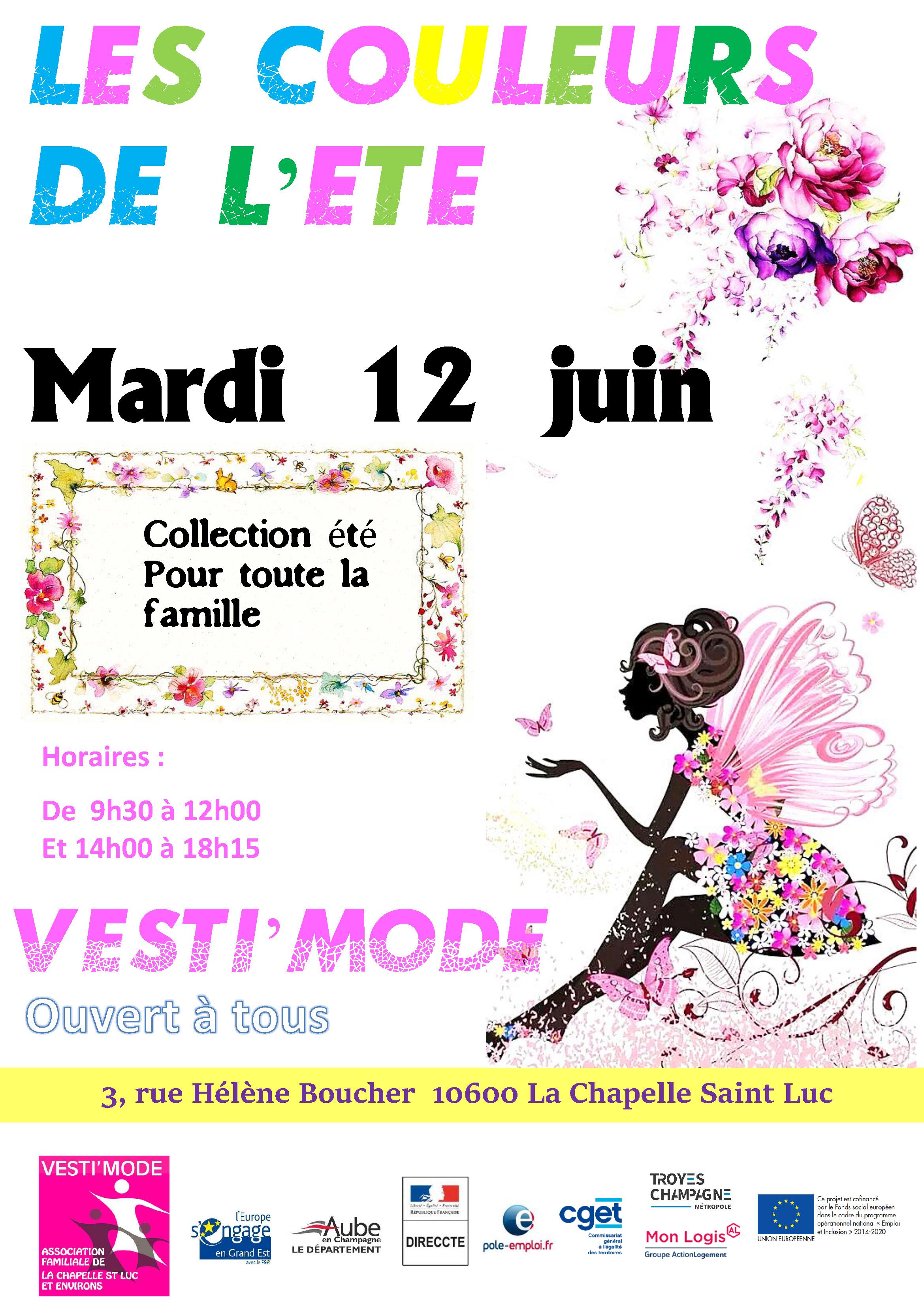 affiche vente collection été mardi 12 juin